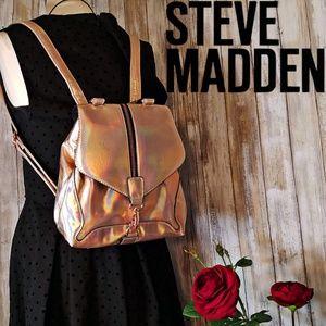 Steve Madden Girl Rose Gold iridescent backpack